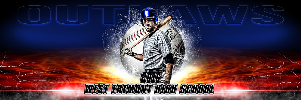 Panoramic Sports Team Banner Photo Template Splash Baseball - Sports banner templates