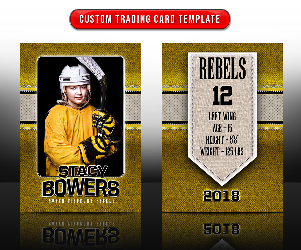 Custom Sports Trading Cards and 5x7 Template