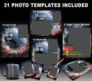 Splash Hockey Photo Template Collection