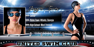 10X20 PHOTO TEMPLATE - AMERICAN SWIM - PHOTOSHOP LAYERED SPORTS TEMPLATE