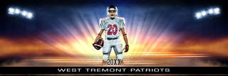 PANORAMIC SPORTS BANNER TEMPLATE - LIGHT BURST - LAYERED PHOTOSHOP SPORTS TEMPLATE