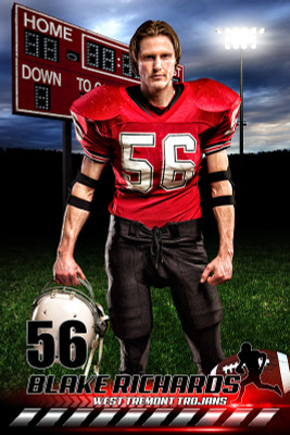 PLAYER BANNER PHOTO TEMPLATE - HOMETOWN FOOTBALL - PHOTOSHOP SPORTS TEMPLATE