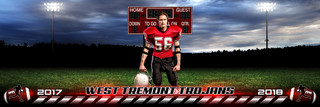 PANORAMIC SPORTS BANNER TEMPLATE - HOMETOWN FOOTBALL - LAYERED PHOTOSHOP SPORTS TEMPLATE