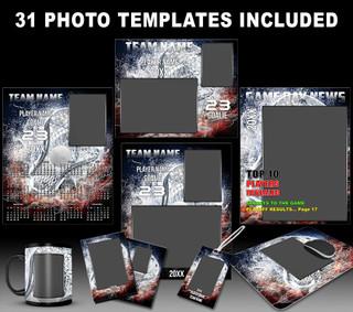 Lacrosse Photo Templates - Splash Collection