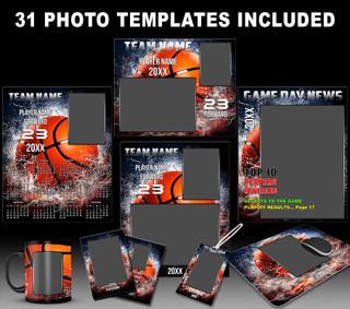 Basketball Photo Templates - Splash Collection
