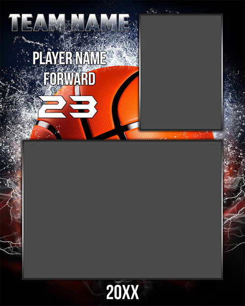 Free 8x10 basketball memory mate sports photo template for Sports team photography templates