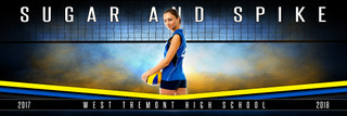 PANORAMIC SPORTS BANNER TEMPLATE - FANTASY VOLLEYBALL - LAYERED PHOTOSHOP SPORTS TEMPLATE