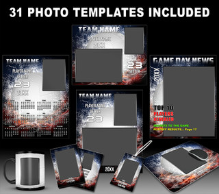 Volleyball Photo Templates - Splash Collection