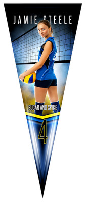 PENNANT PHOTO TEMPLATE - FANTASY VOLLEYBALL