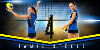 10X20 PHOTO TEMPLATE - FANTASY VOLLEYBALL - PHOTOSHOP LAYERED SPORTS TEMPLATE