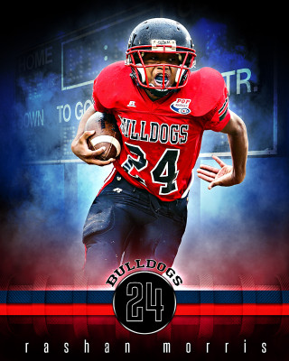 SPORTS POSTER TEMPLATE - FANTASY FOOTBALL- PHOTOSHOP SPORTS TEMPLATE