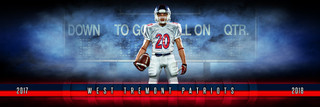 PANORAMIC SPORTS BANNER TEMPLATE - FANTASY FOOTBALL - LAYERED PHOTOSHOP SPORTS TEMPLATE
