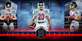 10X20 PHOTO TEMPLATE - FANTASY FOOTBALL - PHOTOSHOP LAYERED SPORTS TEMPLATE