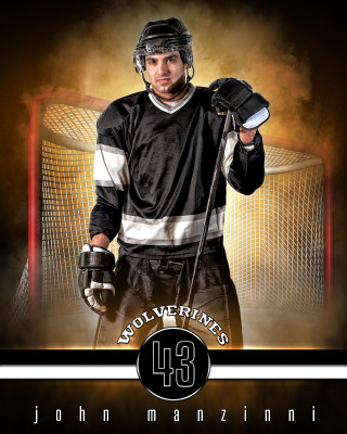 SPORTS POSTER TEMPLATE - FANTASY HOCKEY- PHOTOSHOP SPORTS TEMPLATE