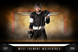 PLAYER & TEAM BANNER PHOTO TEMPLATE - FANTASY HOCKEY - PHOTOSHOP SPORTS TEMPLATE
