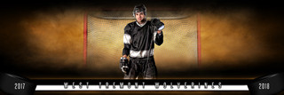 PANORAMIC SPORTS BANNER TEMPLATE - FANTASY HOCKEY - LAYERED PHOTOSHOP SPORTS TEMPLATE