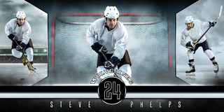 10X20 PHOTO TEMPLATE - FANTASY HOCKEY - PHOTOSHOP LAYERED SPORTS TEMPLATE