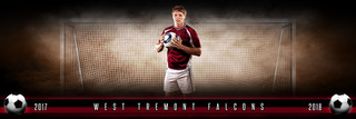 PANORAMIC SPORTS BANNER TEMPLATE - FANTASY SOCCER - LAYERED PHOTOSHOP SPORTS TEMPLATE
