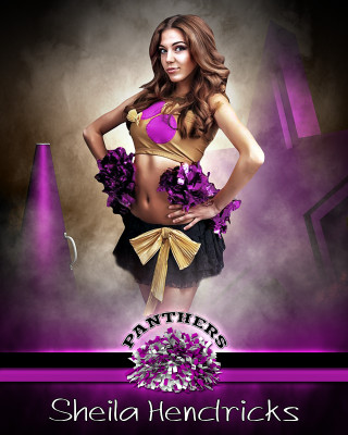 SPORTS POSTER TEMPLATE - FANTASY CHEERLEADING- PHOTOSHOP SPORTS TEMPLATE