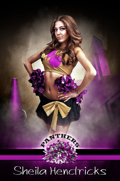 PLAYER BANNER PHOTO TEMPLATE - FANTASY CHEERLEADING - PHOTOSHOP SPORTS TEMPLATE