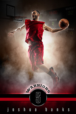 PLAYER BANNER PHOTO TEMPLATE - FANTASY BASKETBALL - PHOTOSHOP SPORTS TEMPLATE