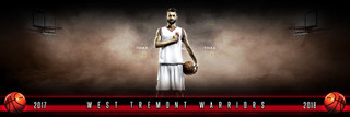 PANORAMIC SPORTS BANNER TEMPLATE - FANTASY BASKETBALL - LAYERED PHOTOSHOP SPORTS TEMPLATE