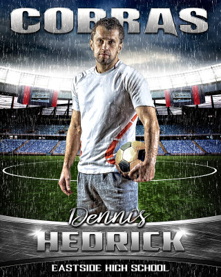 16x20 Soccer Photo Template - Rain Out Series