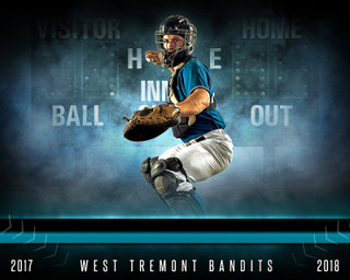 SPORTS POSTER TEMPLATE - FANTASY BASEBALL- PHOTOSHOP SPORTS TEMPLATE