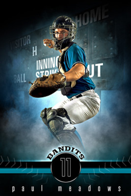 PLAYER BANNER PHOTO TEMPLATE - FANTASY BASEBALL - PHOTOSHOP SPORTS TEMPLATE