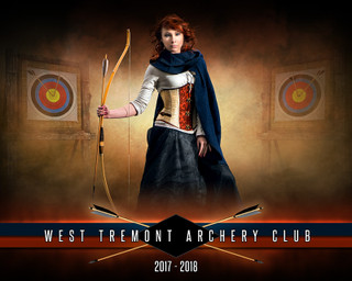 SPORTS POSTER TEMPLATE - FANTASY ARCHERY- PHOTOSHOP SPORTS TEMPLATE