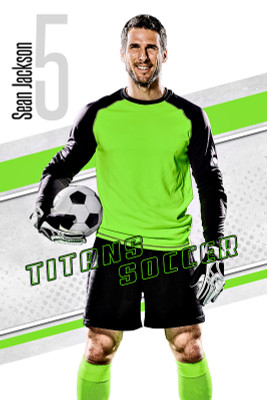 PLAYER BANNER PHOTO TEMPLATE - TITANS - PHOTOSHOP LAYERED SPORTS TEMPLATE