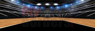 DIGITAL BACKGROUND - BASKETBALL STADIUM II - PANORAMIC