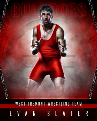 SPORTS POSTER TEMPLATE - FANTASY WRESTLING- PHOTOSHOP SPORTS TEMPLATE