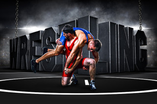 PLAYER & TEAM BANNER PHOTO TEMPLATE - HORIZONTAL - SURREAL WRESTLING