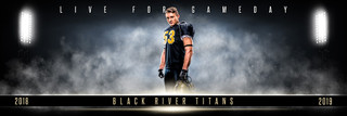 PANORAMIC SPORTS BANNER TEMPLATE - STADIUM LIGHTS - PHOTOSHOP LAYERED SPORTS TEMPLATE