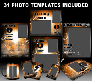 ELECTRIFY COLLECTION - PHOTOSHOP SPORTS TEMPLATE COLLECTION