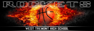 Panoramic Team Basketball Banner Photography Template - On Fire