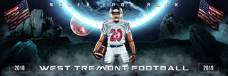 PANORAMIC SPORTS BANNER TEMPLATE - SPACE - PHOTOSHOP LAYERED SPORTS TEMPLATE