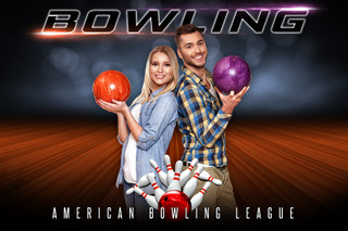 PLAYER  & TEAM BANNER PHOTO TEMPLATE - BOWLING - PHOTOSHOP LAYERED SPORTS TEMPLATE