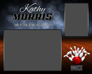 MEMORY MATE - HORIZONTAL - BOWLING - PHOTOSHOP LAYERED SPORTS TEMPLATE