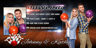 10X20 PHOTO TEMPLATE - BOWLING - PHOTOSHOP LAYERED SPORTS TEMPLATE