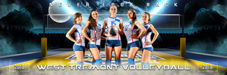 PANORAMIC SPORTS BANNER TEMPLATE - SPACE VOLLEYBALL - LAYERED PHOTOSHOP SPORTS TEMPLATE