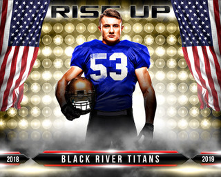 MULTI-SPORT POSTER - RISE UP - PHOTOSHOP LAYERED SPORTS TEMPLATE