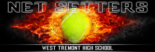Panoramic Team Tennis Banner Photography Template - On Fire