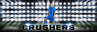 PANORAMIC SPORTS BANNER TEMPLATE - SOCCER LIGHTS - LAYERED PHOTOSHOP SPORTS TEMPLATE