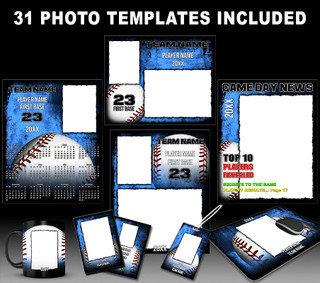 BASEBALL GRUNGE COLLECTION - PHOTOSHOP SPORTS TEMPLATE COLLECTION