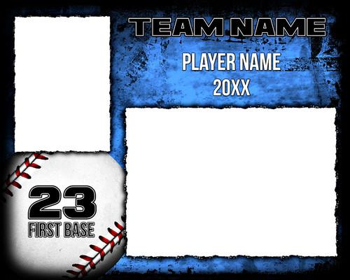 Baseball Memory Mate Photo Template - Baseball Grunge - Photoshop ...