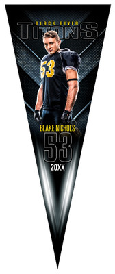 SPORTS PENNANT PHOTOSHOP TEMPLATE - DARK SIDE