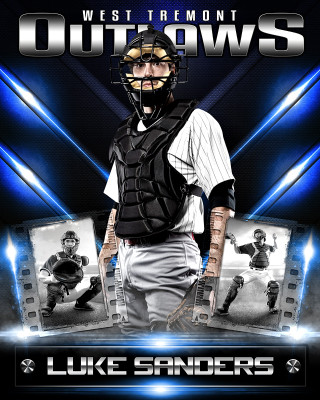 VRAY 16x20 PHOTO COLLAGE - LAYERED PHOTOSHOP SPORTS TEMPLATE