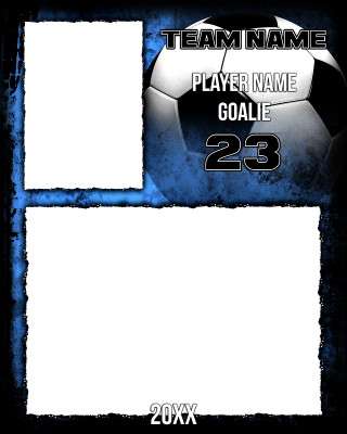 SOCCER MEMORY MATE - VERTICAL - SOCCER GRUNGE - PHOTOSHOP LAYERED SPORTS TEMPLATE